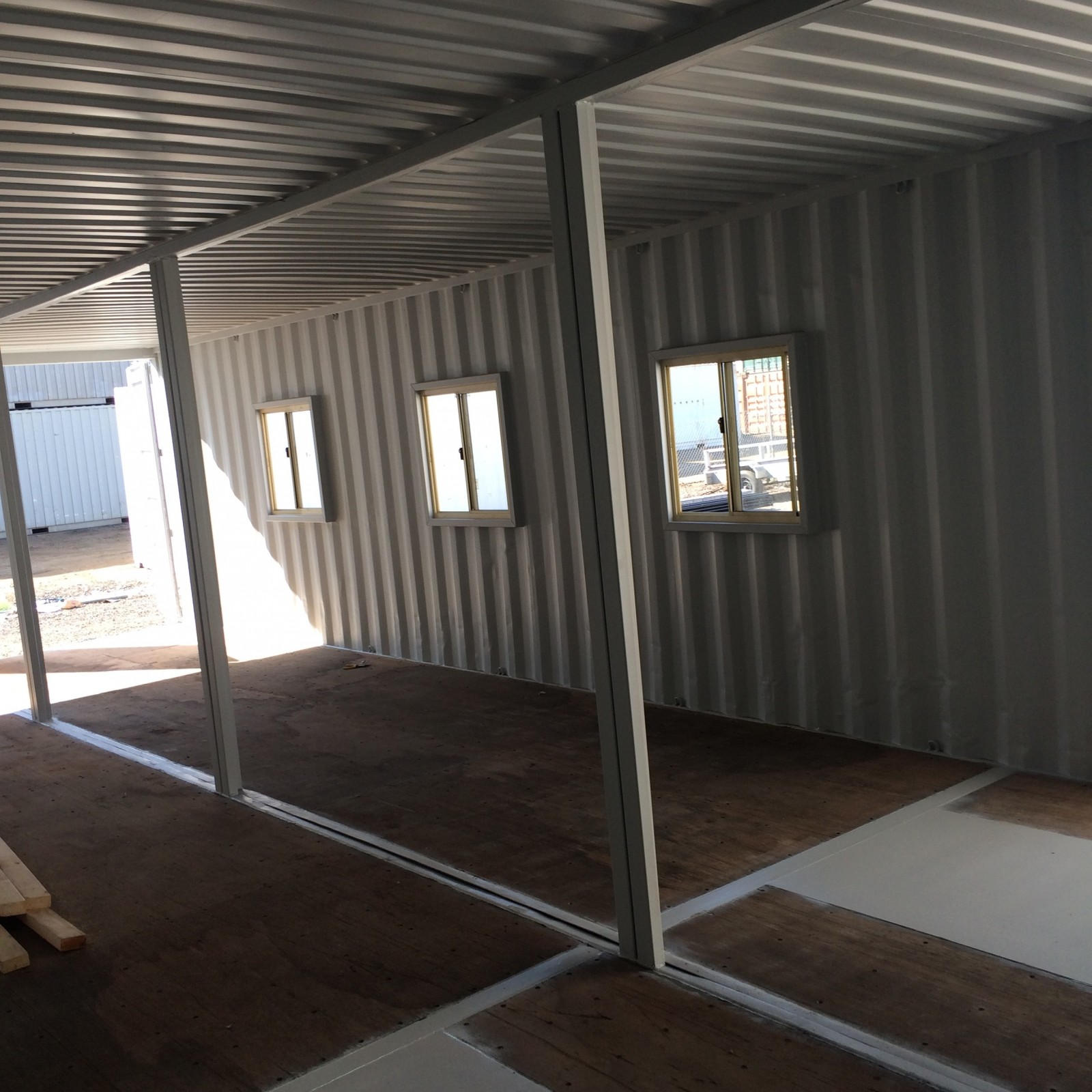 container homes on work